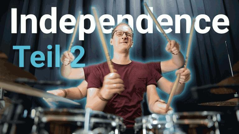 Schlagzeug Unabhängigkeitsübungen - Teil2