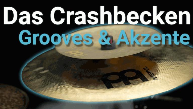 Crash Becken - Grooves mit Crash Becken Akzente