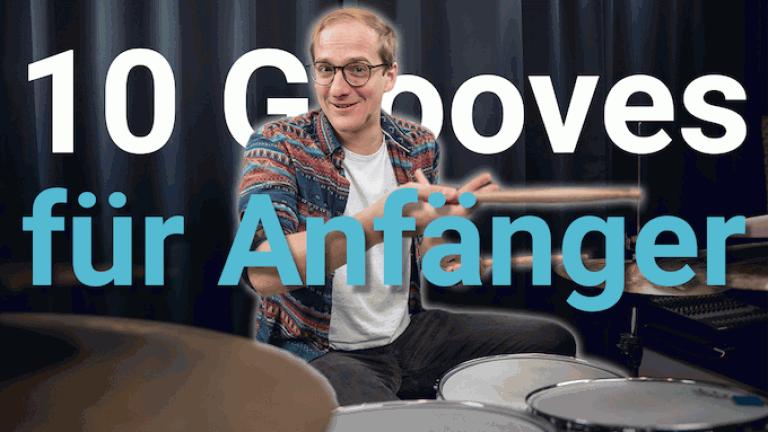 Schlagzeug lernen - 10 Anfaenger Grooves